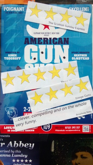 Edinburgh poster with star ratings