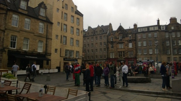 Edinburgh's Grassmarket area. It feels like my nabe away from my nab.e