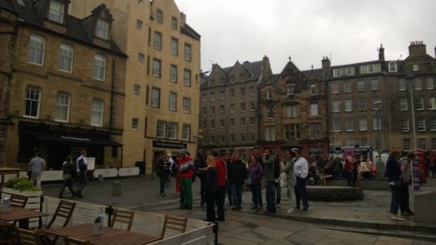 Edinburgh's Grassmarket area. It feels like my nabe away from my nab.e
