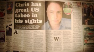 A review and feature came out in the Scottish Sunday Express, one of the country's national papers.