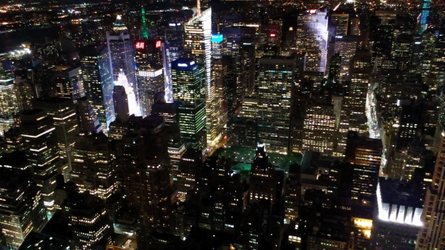 The view from the top of the Empire State Building Sept. 9, 2014.