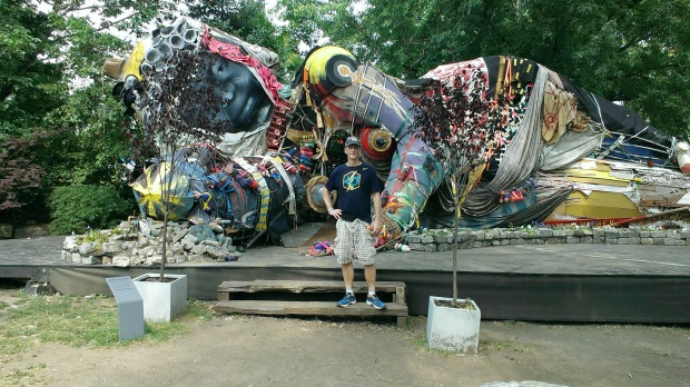 My running guru, Matt, at the Socrates Sculpture Park in Queens.