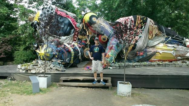 My running guru, Matt, at the Socrates Sculpture Park in Queens.