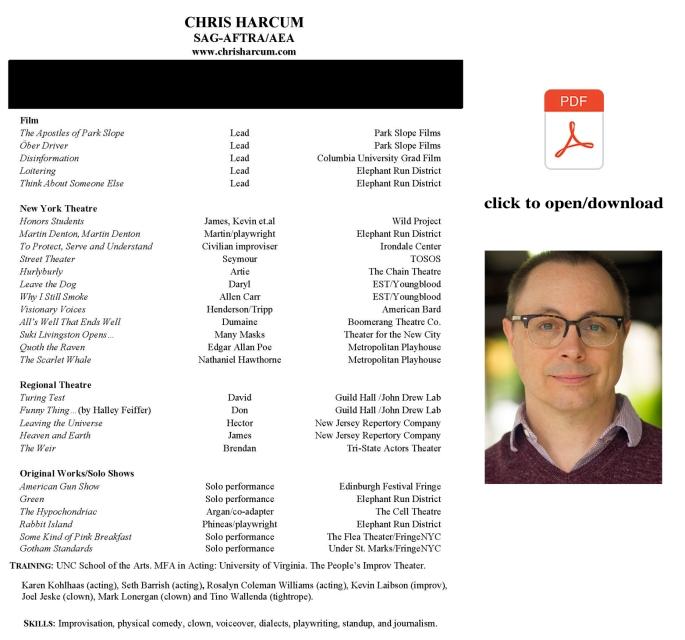 chris harcum 2018 headshot and resume